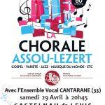 Castelnau-de-Lévis : Concert Chorales Assou Lezert et Cantarane à la Salle Pierre Valax