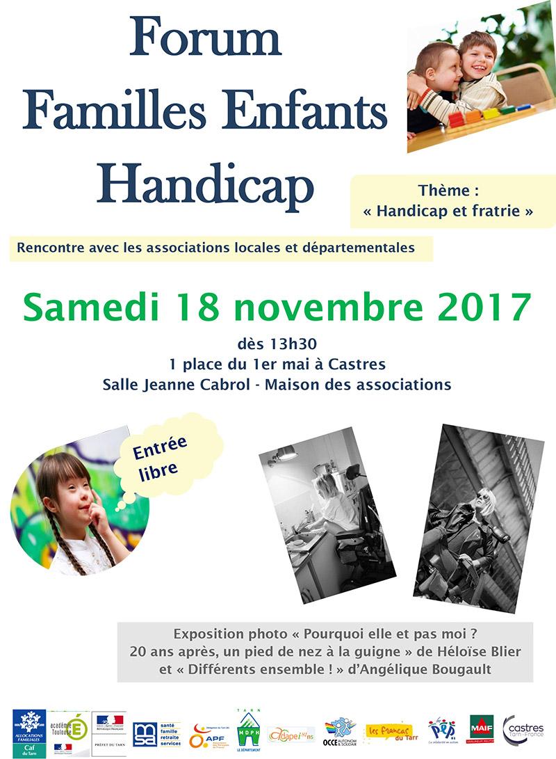 Forum familles enfants handicap 2017