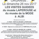 Visite des musées à Albi (c) Association Vivre à Cadalen