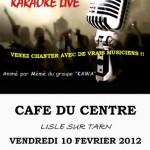 Karaoké Live au Café du Centre