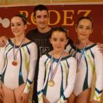 Rodez, Championnat de gym 2012 - Les champions de France (Louis , Justine, Elsa et Léa) / © Tempo Gym