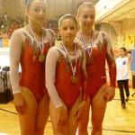 Rodez, Championnat de gym 2012 - Trio sénior (bronze) avec Sarah, Eléonore et Alicia / © Tempo Gym