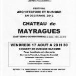 mayragues concert de musique baroque (c) Château de Mayragues