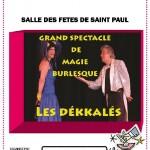 Les Dekkales magie burlesque (c) Association les amis de l'école