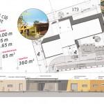 Plan de la créche modulaire La Rose des Vents, Gaillac / © Ted