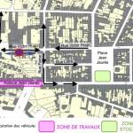 Carmaux, modification du plan de circulation du 11 février à début mars 2013 / © Ville de Carmaux