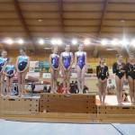 Podium des sélectives régionales au COSEC d'Albi, fevrier 2013 / © Tempo Gym