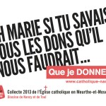 Oh Marie si tu savais tous les dons qu'il nous faudrait, campagne de communication des églises des Vosges et Meurthe-et-Moselle / © www.catholique-nancy.fr