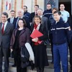 Première réunion d'évaluation sur la sécurité à la Mairie de Lavaur, mardi 19 février 2013 / © Préfecture du Tarn
