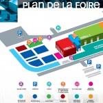 Plan de la Foire économique d'Albi 2013