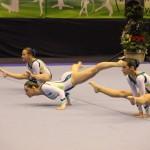 Demie finale du championnat de France de gymnastique acrobatique 2013, Trio espoir : Lola Mayo, Léa Sanchez et Justine Autelitano / © Tempo Gym