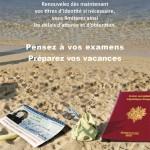 N'attendez pas l'été pour renouveler votre certe d'identité et votre passeport