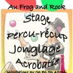 Stage de percu-récup, jonglage, acrobaties (c) Le Frog and Rock