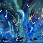 Atelier d'arts plastiques Le bleu dans l'art (c) Médiathèque de Lisle sur Tarn