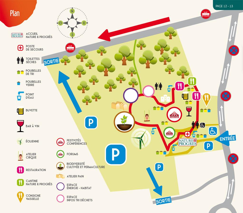 Plan de la Foire Biocybèle, édition 2013 - Graulhet