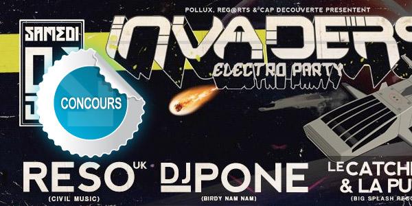 Gagnez des places pour la soirée Invaders Electro Party à cap Découverte - Concours DTT
