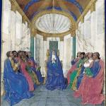 La Pentecôte, Heures d'Étienne Chevalier, enluminées par Jean Fouquet, Musée Condé, Chantilly / cc Wikipédia