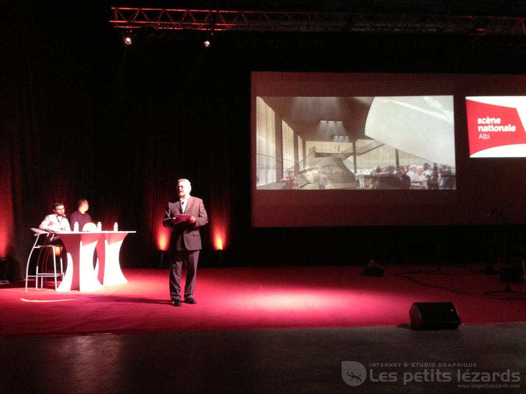 Soirée de présentation de la saison culturelle 2013/2014 de la Scène Nationale d'Albi, mardi 25 juin 2013 / © François Darnez – Les petits lézards.