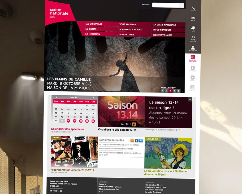 Nouveau site Internet de la Scène Nationale d'Albi
