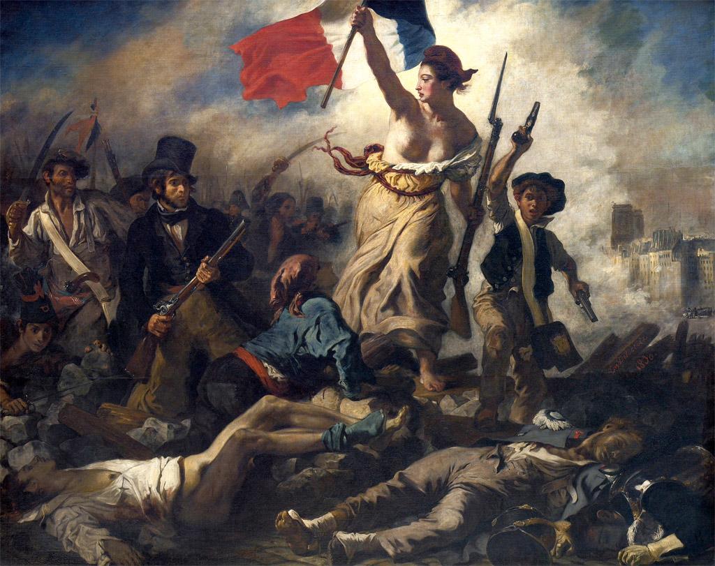 Eugène Delacroix - La Liberté guidant le Peuple / cc Wikipédia