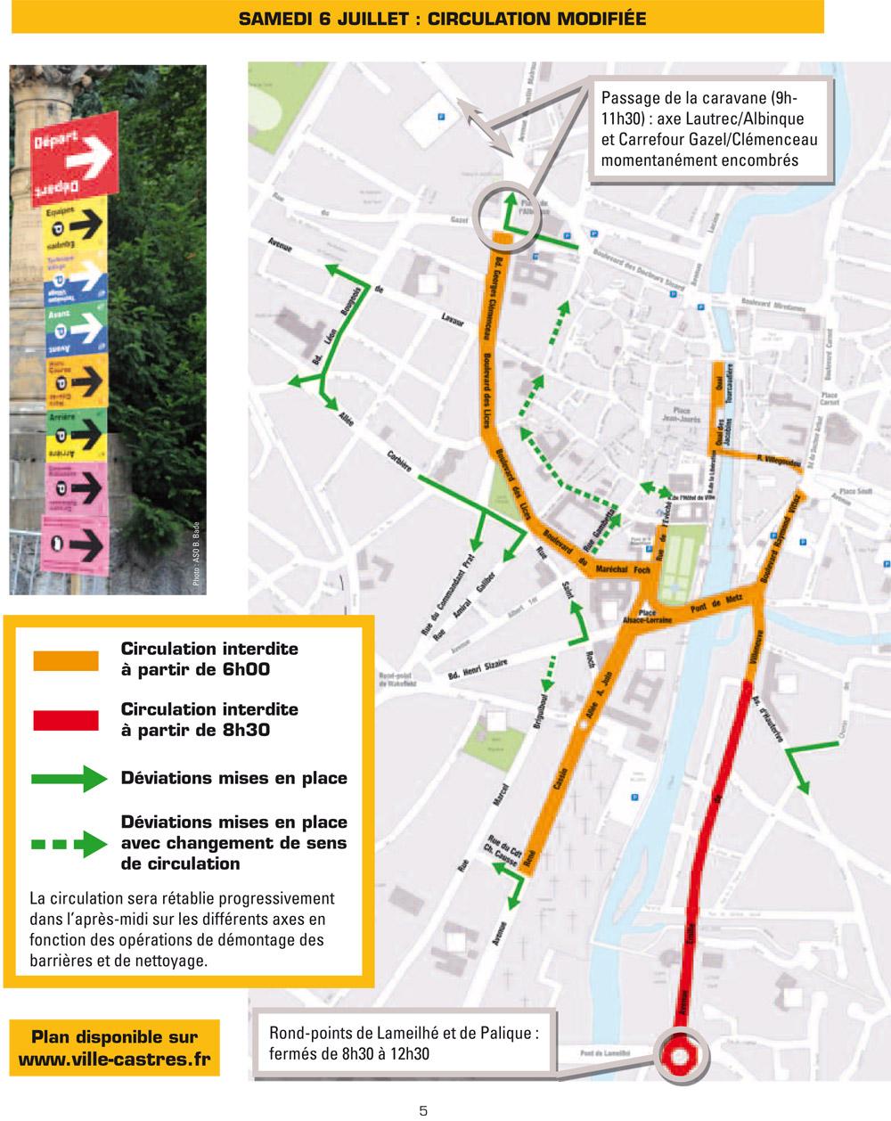 Tour de France 2013, la circulation à Castres / © Ville de Castres