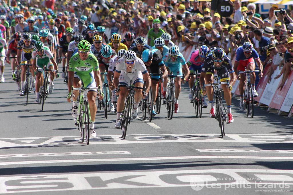 Tour de France 2013, arrivée de Peter Sagan à Albi / © François Darnez - Les petits lézards