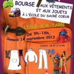 Bourse aux jouets et aux vêtements d'enfants à l'école du Sacré Cœur de Lisle sur Tarn / © Carole Alleyrangue