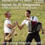 Concert entre jazz et musiques du monde (c) Ass. sauvegarde des églises de Penne