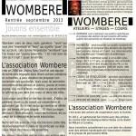 Wombéré - Rentrée 2013 (c) Association Wombéré