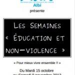 Les semaines éducation et non-violence (c) Mouvement pour une atlternative non-violente