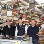 Cyril CULLIER (Saveurs du Tarn), Hervé GANDON (responsable produits frais Leclerc) et Philippe INGHELBRECHT (œufs Tanagra) / © Saveurs du Tarn