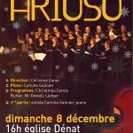 Dénat L'ensemble vocal Arioso chante Noël (c) Conservatoire de Musique et Danse du Tarn