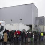 Trifyl inuaguration du quai de transfert de Gaillac Devant le quai de transfert et le camion biométhane / © Trifyl