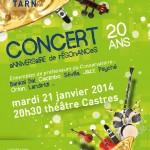 Castres Concert anniversaire Résonances (c) Conservatoire de Musique et de Danse du Tarn
