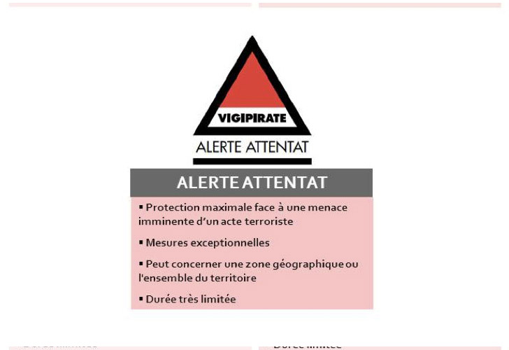 Plan Vigipirate Alerte Attentat
