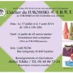 Atelier Furoshiki avec thé Hôjicha (c) Atelier Tokiko