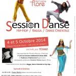 Session danse ragga/hip hop/ danse orientale (c) Domaine de Flore evenements