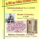 Conférence : Les vaudois (c) Centre Occitan du Pays Castrais