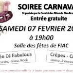soiree carnaval a fiac (c) COMITE DES FETES DE FIAC BRAZIS