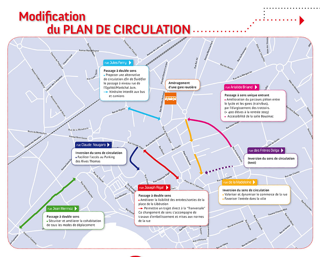 Gaillac, modification du plan de circulation / © Ville de Gaillac