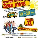 Navette gratuite pour le Forum Jobs d'été (c) Service Jeunesse des Rives de l'Arn
