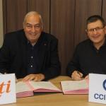 Signature d'un convention entre la CCI du Tarn et ECTI, 27 fevrier 2015 / © CCI du Tarn