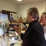 Stage de peinture avec Casimir Ferrer (c) Artisans Créateurs Tarnais