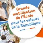 Mobilisation de l'École et ses partenaires pour les valeurs de la République