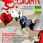 L'Europe Galante, opéra-ballet (c) Conservatoire de Musique et de Danse du Tarn