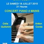 Concert piano 4 mains (c) Maison d'Animation LO CAPIAL