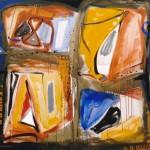 Exposition de peintures de Raymond Dirlès (c) Le cinq