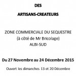 Marché de noël des artisans créateurs (c) association arts en lumière