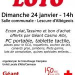 Loto de la Croix Rouge Francaise (c) Unité locale Albi Carmaux de la Croix Rouge