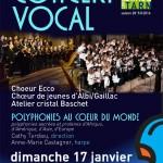 Polyphonies au coeur du monde (c) Conservatoire de Musique et de Danse du Tarn